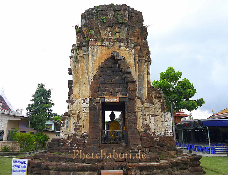 Buddha in Tempelruine Thailand