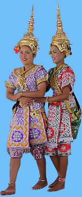 Tempel Tänzerinnen in Phetchaburi Thailand